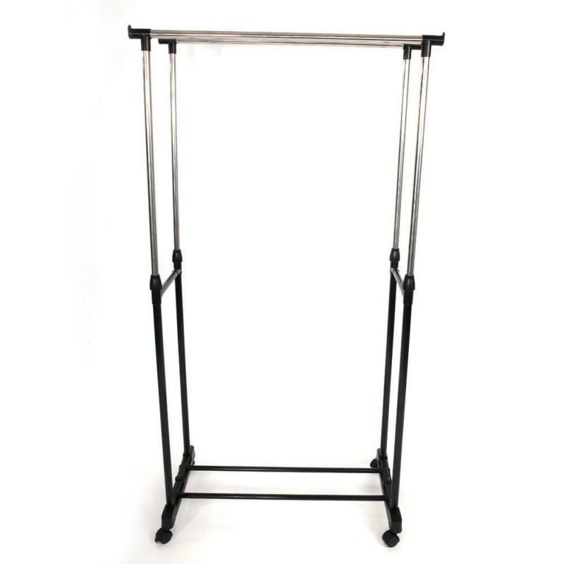 Drying Folding Clothes Stand Black