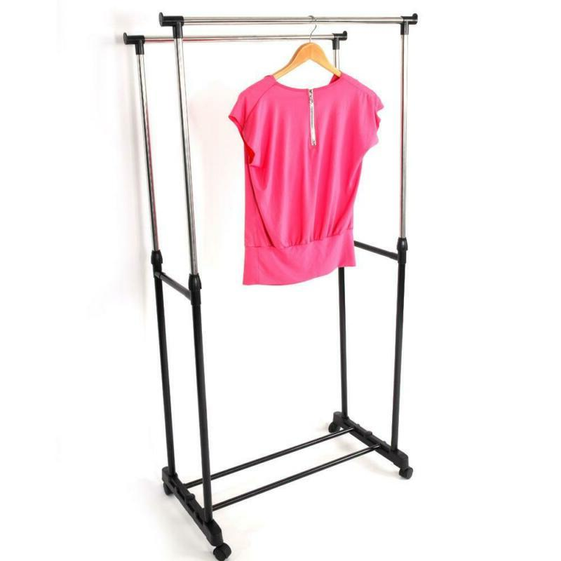 Drying Rack Laundry Folding Clothes Stand Silver