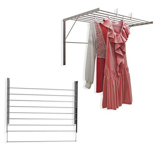 drying rack stainless steel wall