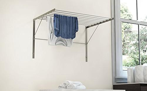 brightmaison Clothes Drying Steel Mounted Adjustable Collapsible, 6.5 Drying Capacity