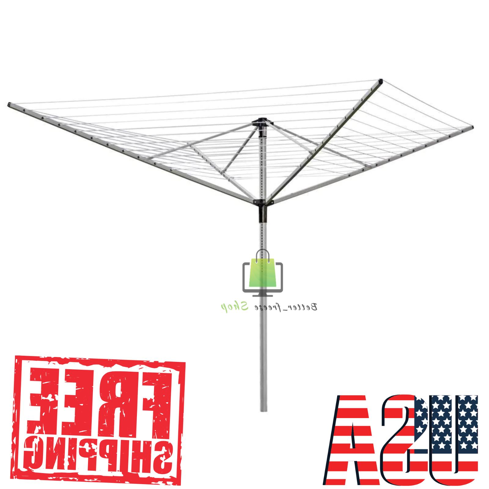 drying rack umbrella clothesline adjustable