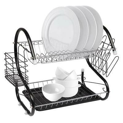 durable 2 tiers dish cup drying rack