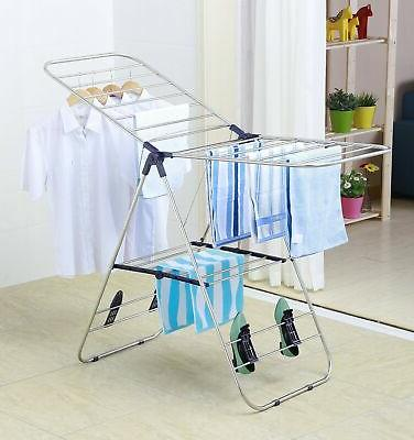 EWEI'S HomeWares Heavy Stainless Clothes Rack, 58 L 23.5 -
