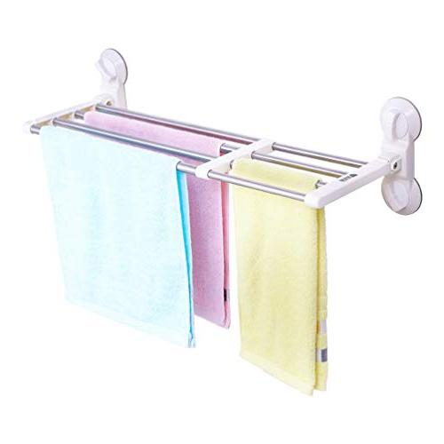 expandable bathroom towel rack suction