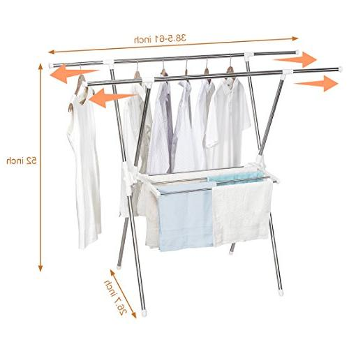 STORAGE MANIAC Expandable Drying Rack, inch Wide