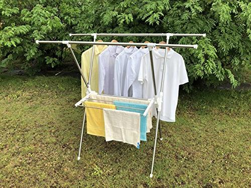 STORAGE Drying Heavy Stainless Steel Laundry Rack, 38-61