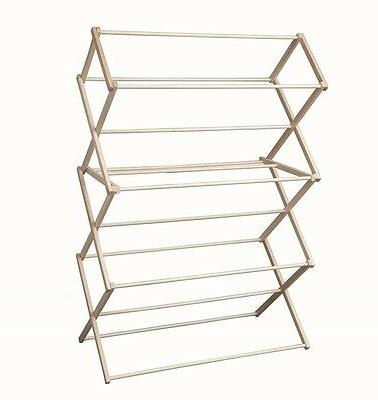 EXTRA LARGE AMISH DRYING RACK x x 23D Maple Clothes