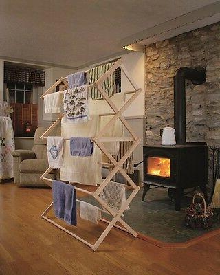 extra large amish folding drying rack 48w