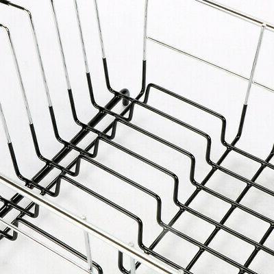 Floor Dish Drying Rack Cup Steel Wash
