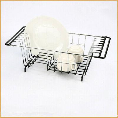 Floor Dish Drying Rack Cup Stainless Steel Wash Organizer