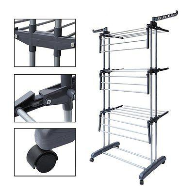 Laundry Clothes Storage Drying Hanger Duty