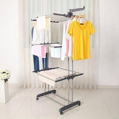 Laundry Clothes Drying Hanger Heavy Duty
