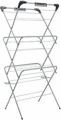 Foldable 3 Tiers Laundry Racks Special for Clothes Drying wi