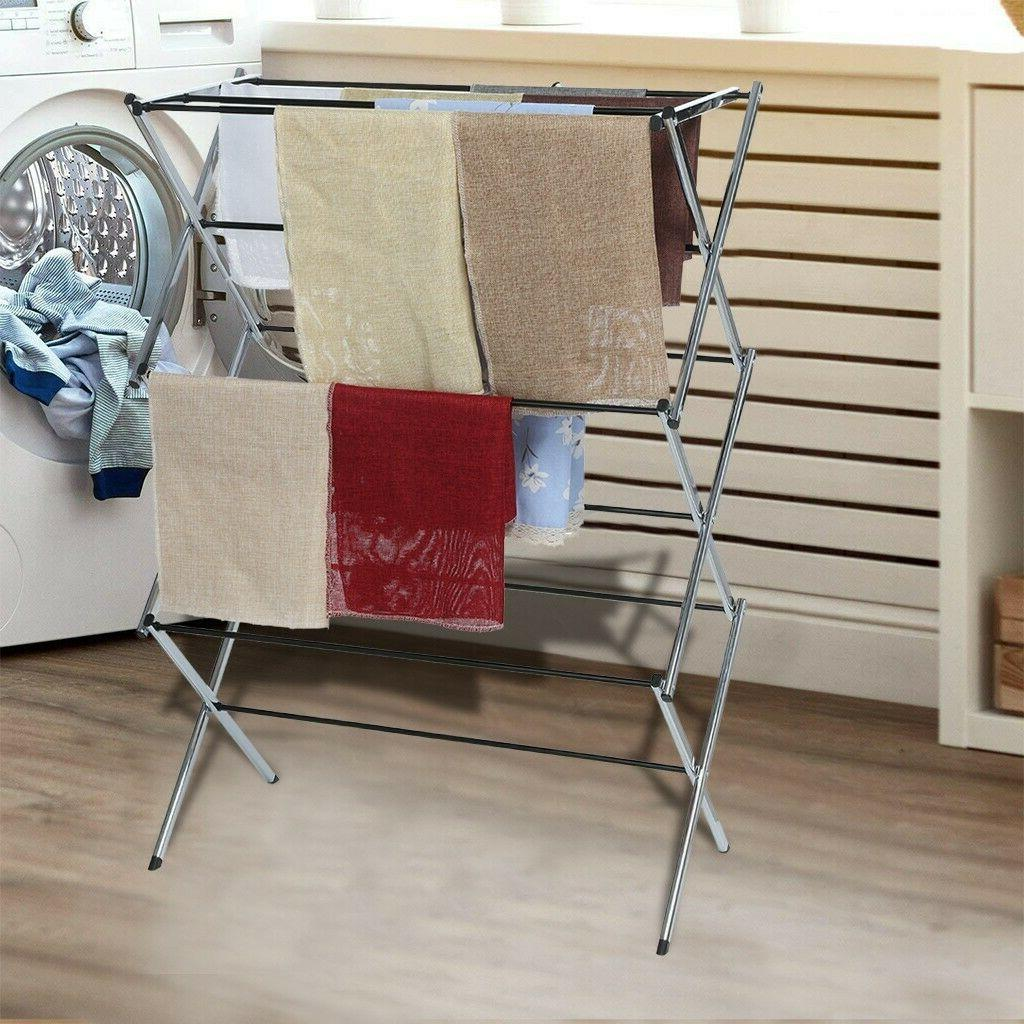 foldable clothes drying rack retractable indoor