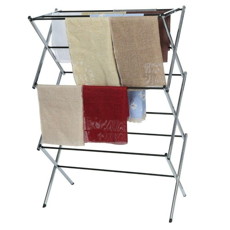 Clothes Rack Laundry Stand Folding Dryer Storage