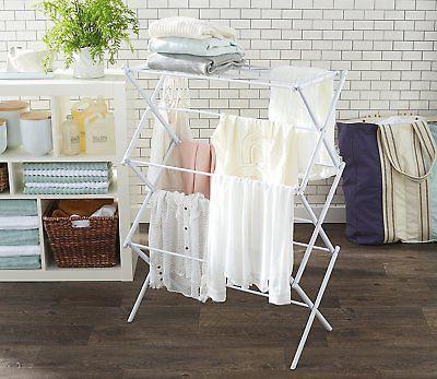 AmazonBasics Foldable Garment Rack White