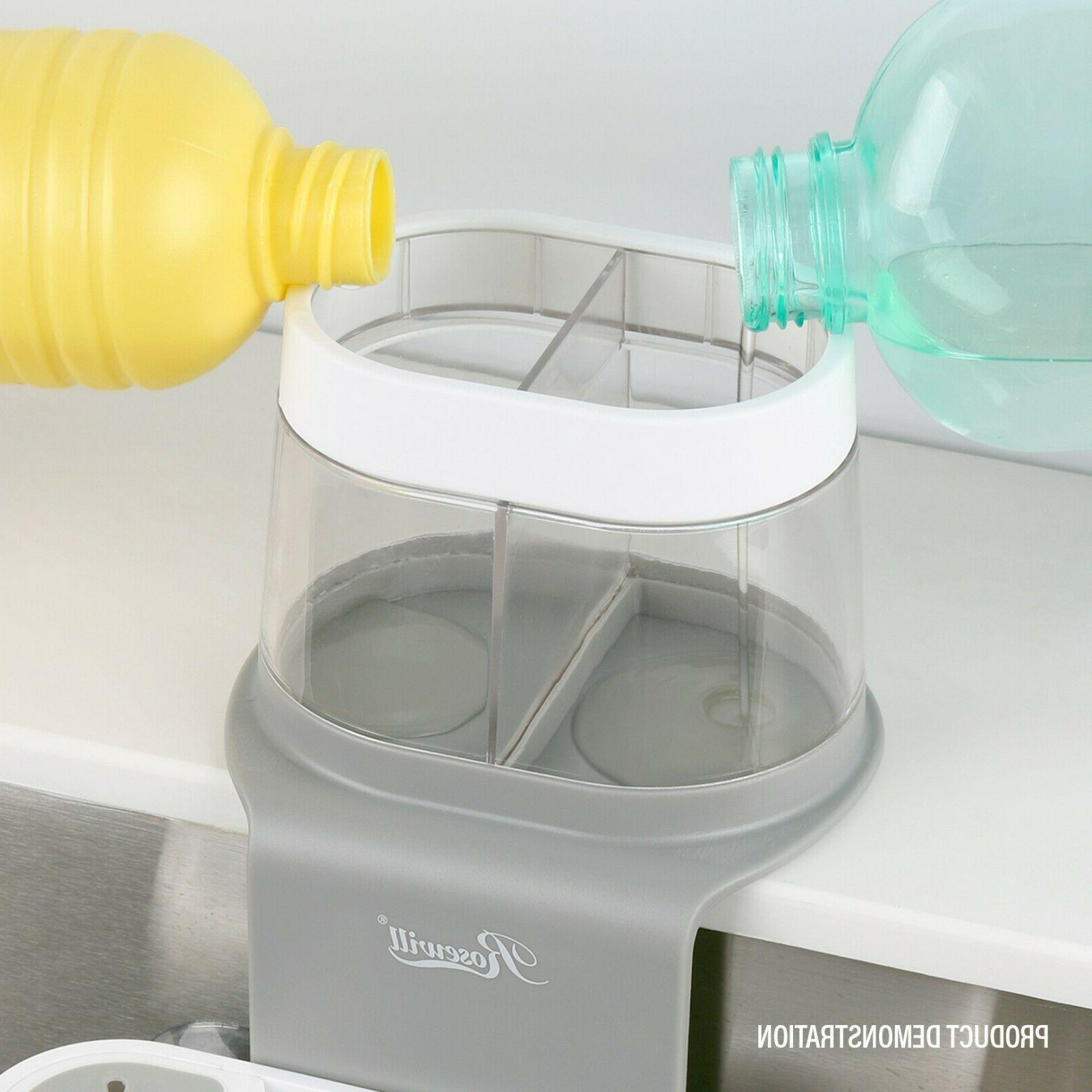 Foldable Dish w/ Drainer & Holder Soap Dispenser Sink Caddy