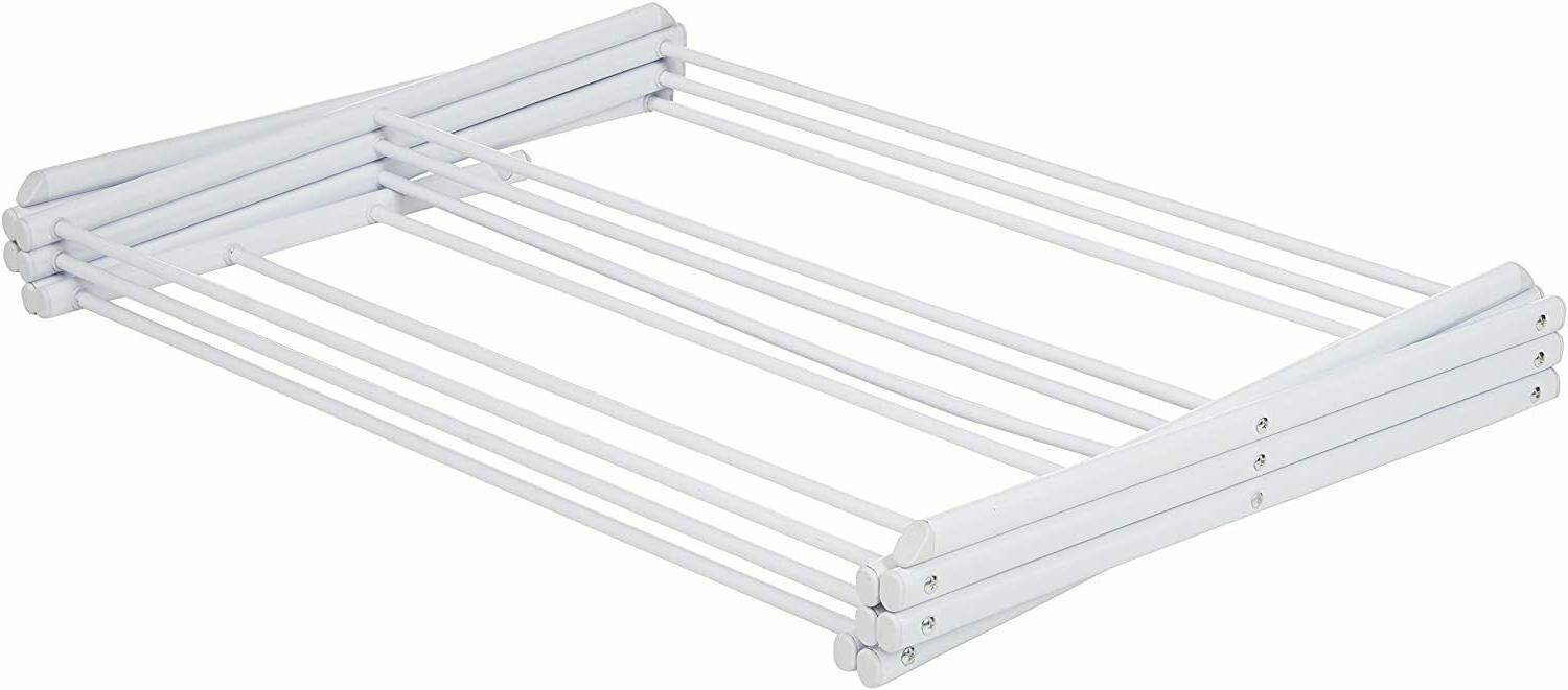 White Steel Laundry Collapsible Drying Rack Organizer