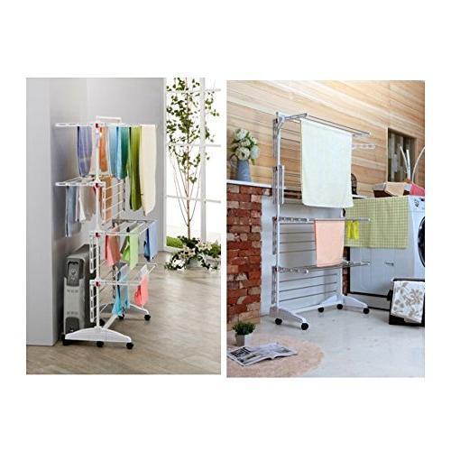 PKB WORLD High Foldable in Korea, 8 Foldable Racks, 2 10 Hangers, 6 Steel Bars,