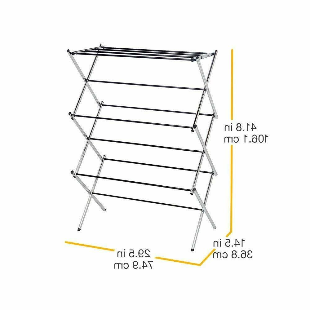 AmazonBasics Foldable Clothes Laundry Rack