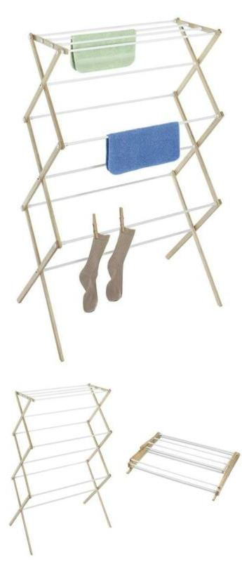 foldable drying racks wooden collapsible clothes laundry