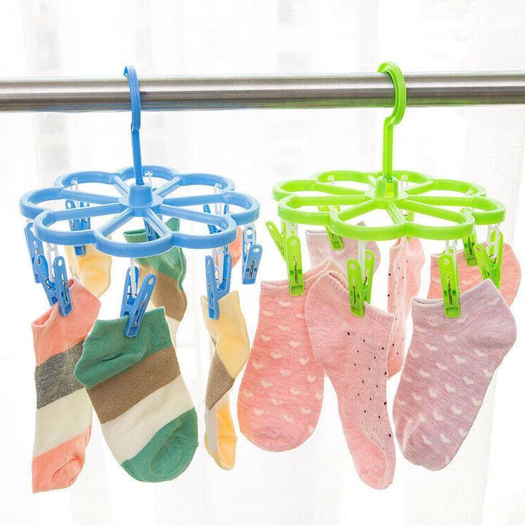 foldable hanger clip drip drying rack laundry