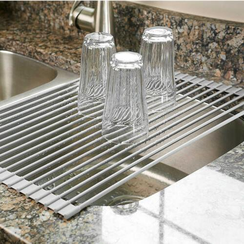 Large Holder Over The Sink Kitchen Tool Drainer Mat Drain Board