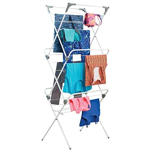 Laundry Rack - Compact, Collapsible for Drying of Finish/Gray