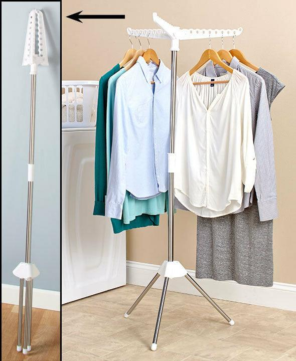 Foldable Clothes Storage Hanger Stand