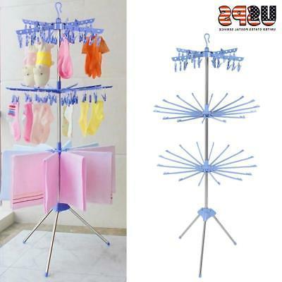 3Tier Laundry Organizer Folding Drying Rack Clothes Dryer Ha