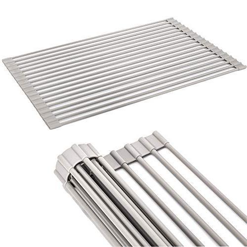 foldable roll dish drying rack