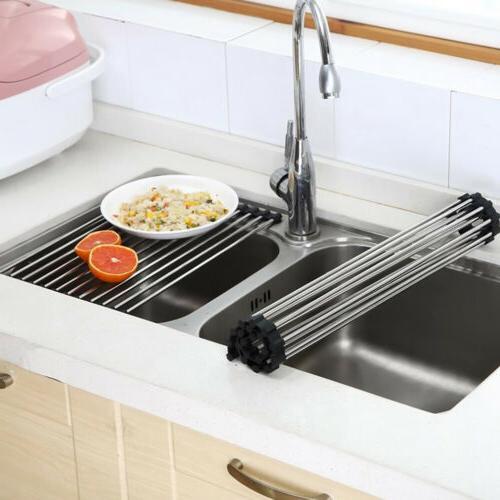 foldable roll up dish drying rack multipurpose