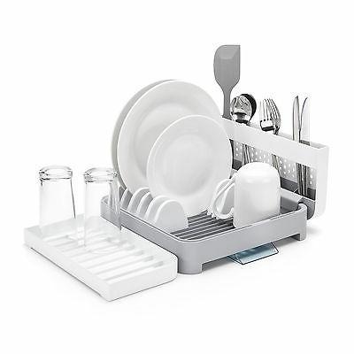 foldaway washing up dish rack drainer white