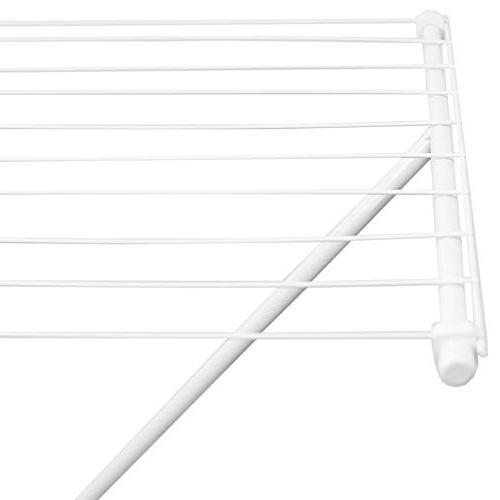 Sunbeam Folding Metal Clothing Drying Rack, White