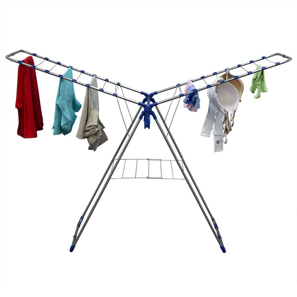 folding clothes drying rack with zippered bag