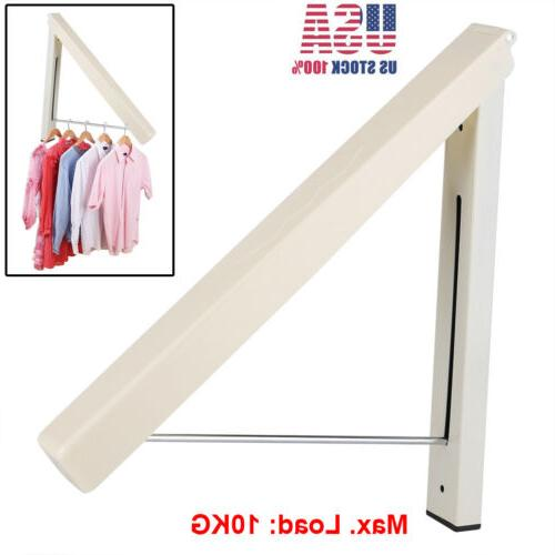folding clothes hangers retractable wall mounted drying