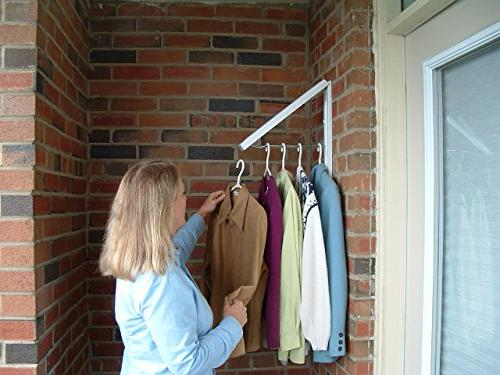 Fold Collapsible Triangular Wall Mounted Clothes Storage Drying Rack With Hanging Rod For Heavy Duty Bathroom Balcony Laundry Home Improvement