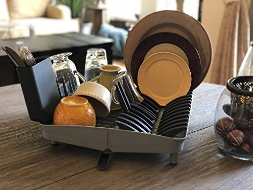 Folding Dish Drying for Glasses Easy to Clean, Space