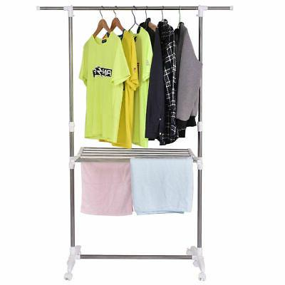 folding drying rack extendable rolling storage hanger