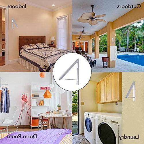 Stock Your Home Clothes Retractable Clothes Laundry & Aluminum, Installation –