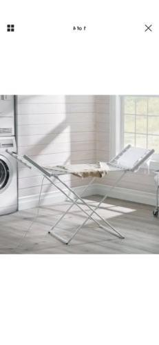 Folding Heated Clothing Drying Rack Laundry Room Perfect for