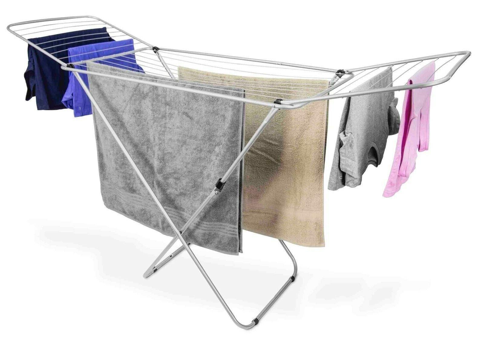 folding laundry drying rack collapsible