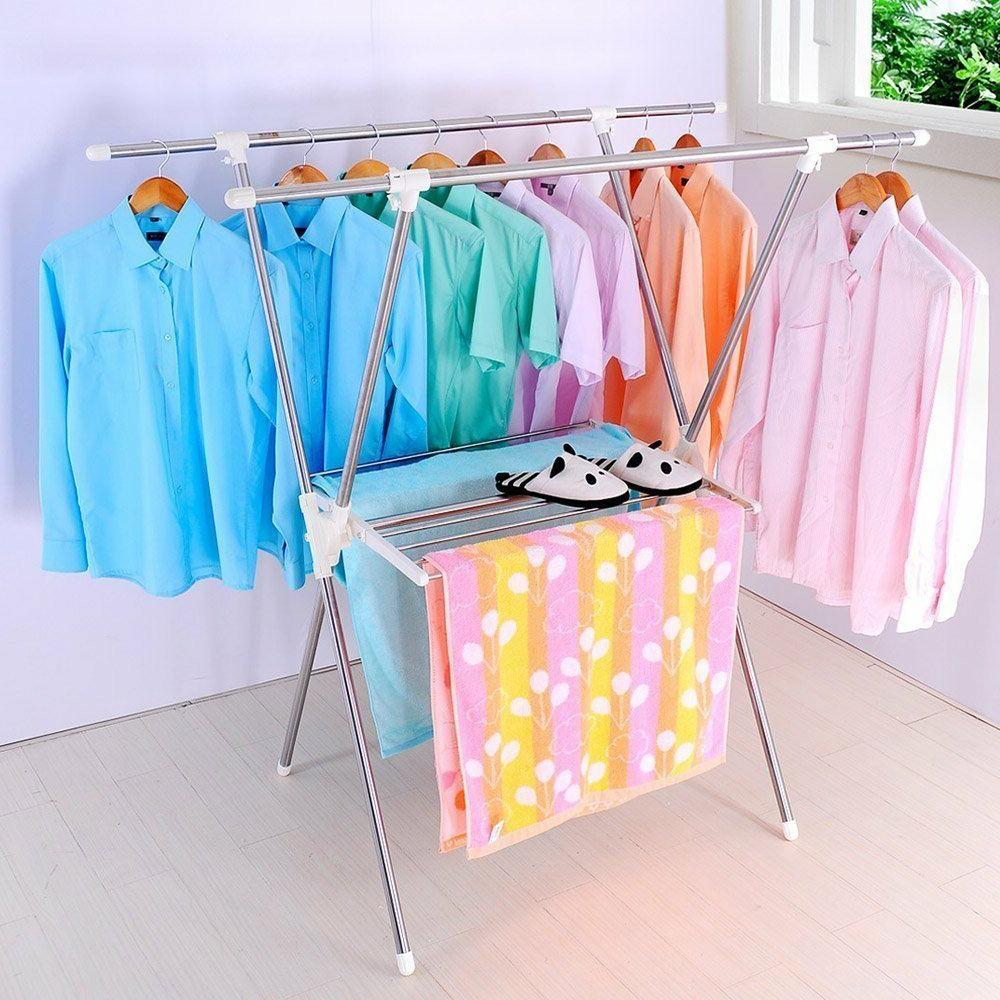 Folding Shaped Laundry Stand Hanger