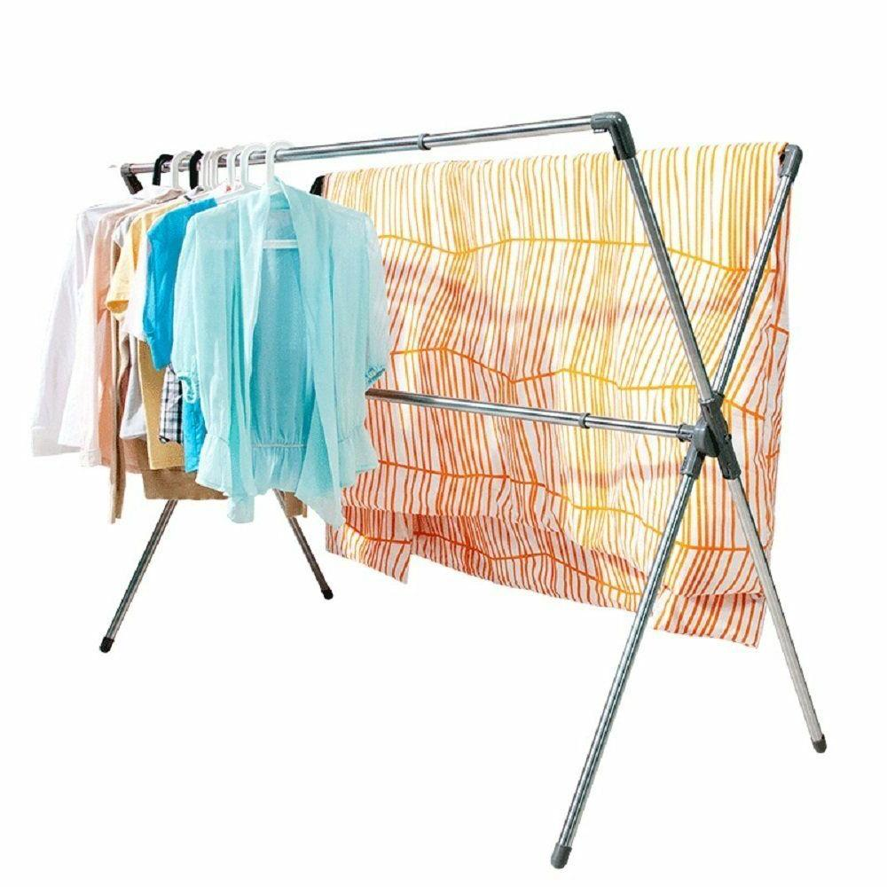 folding x shaped clothes laundry drying stand