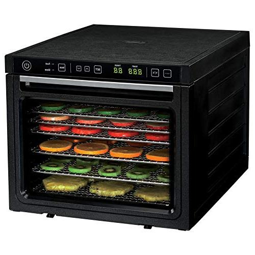 Rosewill Dehydrator 6-Tray Food for Making Jerky, Healthy Snacks Fruit, Fans - RHFD-18001