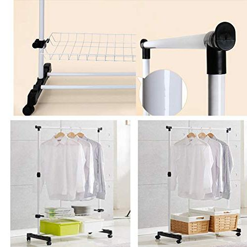 YAOBAO Garment Rack Coat Organizer Storage Shelving Unit Entryway Storage Shelf with in White