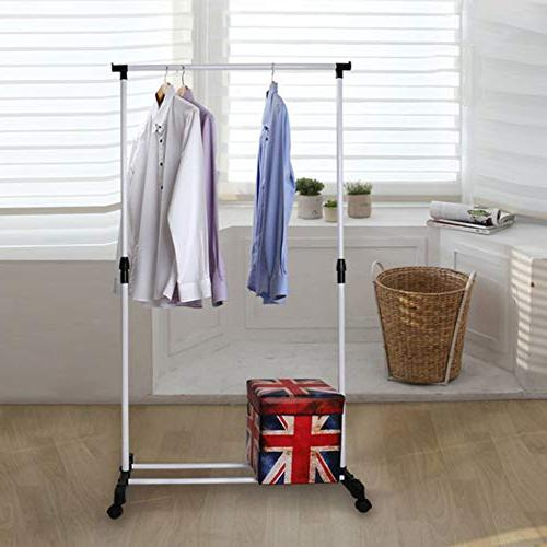 YAOBAO Garment Coat Organizer Storage Unit with Metal in White