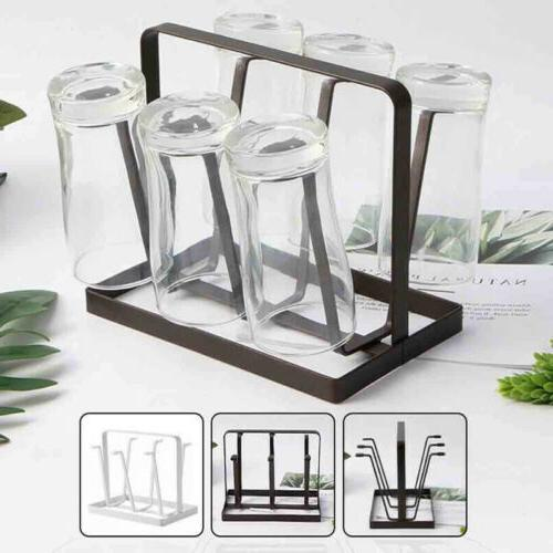 Kitchen Bottle Glass Cup Storage Dryer Drying Rack Holder Or
