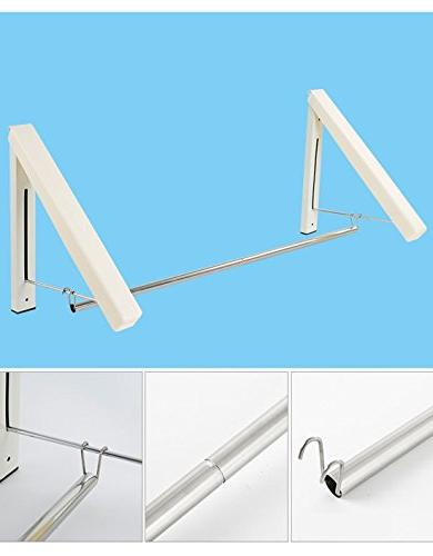 Laundry Hanger Rack - Clothes Racks| Rack| Home Space Living Easy Installation Beige