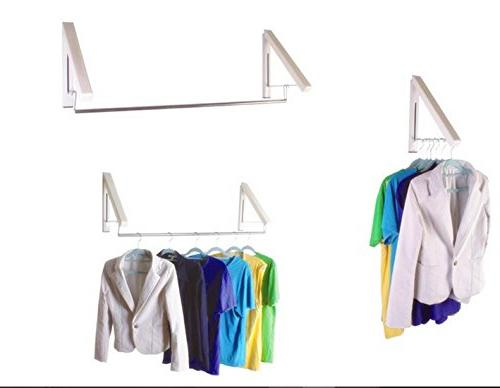 Laundry Rack - Clothes Wall Drying Rack| Home Organization Space Easy Kit Beige